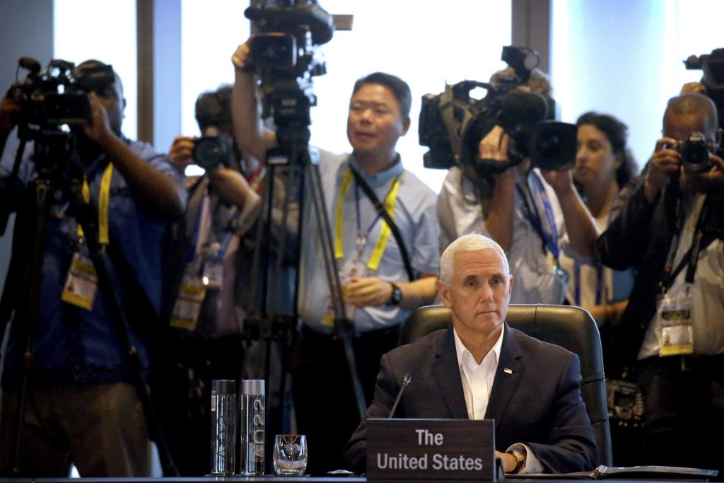 U.S.-China tensions heightened as Pence ends Asia trip