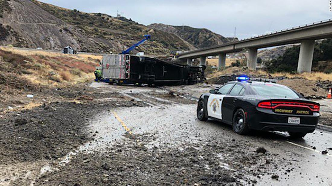 Snow, flooding and mudslides create traffic nightmare for Californians