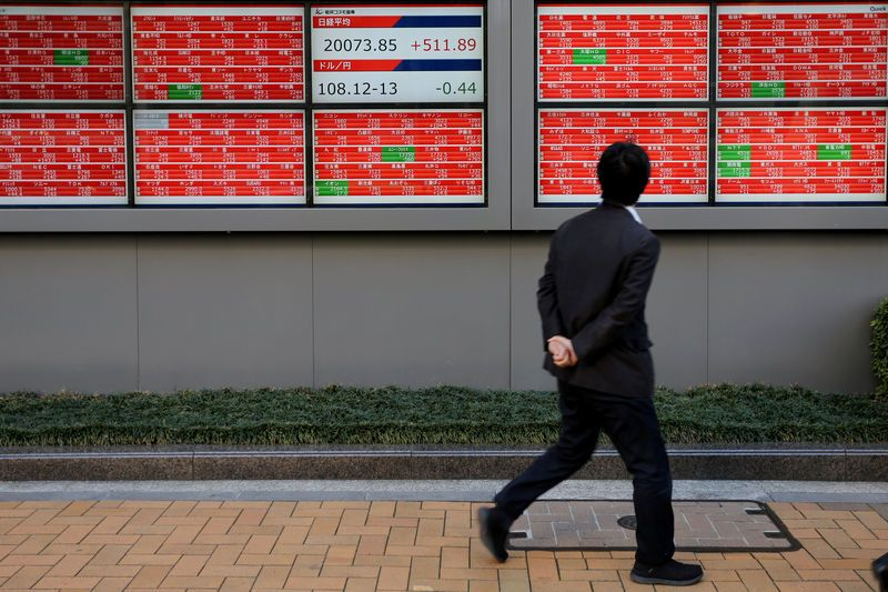 Asian shares on defensive, sterling braces for Brexit vote