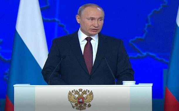 Vladimir Putin makes annual State of the Nation address to the Federal Assembly