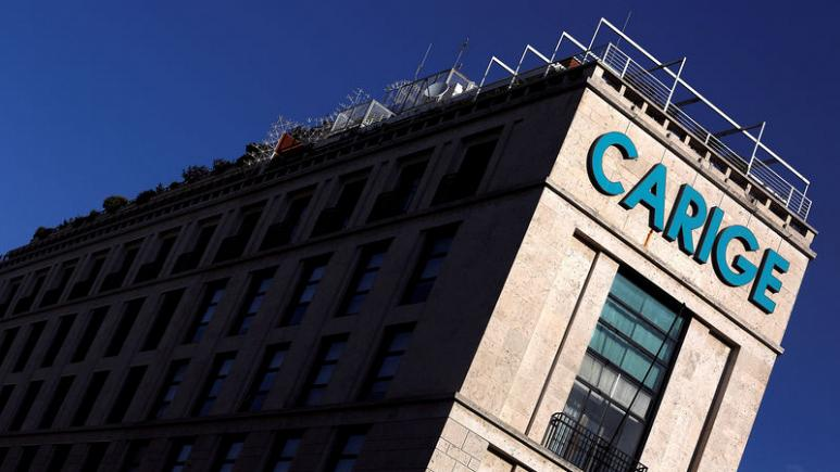 Italian banks set to take 43 percent in Carige under BlackRock's 720 million euro rescue plan