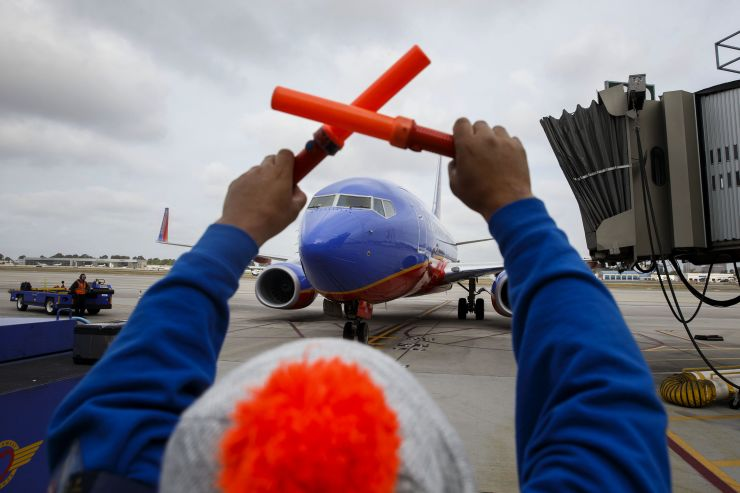 Southwest expects Boeing 737 Max cancellations to continue into October