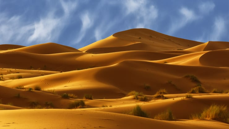 Why travelers are burying themselves in the searing sands of the Sahara Desert