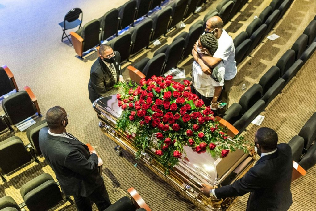 US protests latest: 'Get your knee off our necks,' Reverend Al Sharpton says at fiery George Floyd memorial